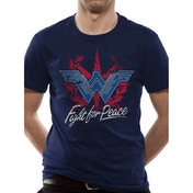 Wonder Woman Movie - Fight For Peace Men's Small T-Shirt - Blue