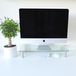 Adjustable Glass Monitor Stand Non-Slip Feet   M&W Clear Extra Large - Image 5