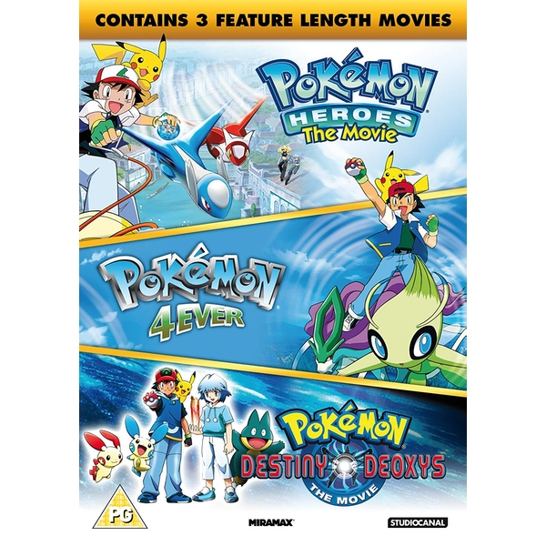 Pokemon Triple Movie Collection (Movies 4-6) DVD