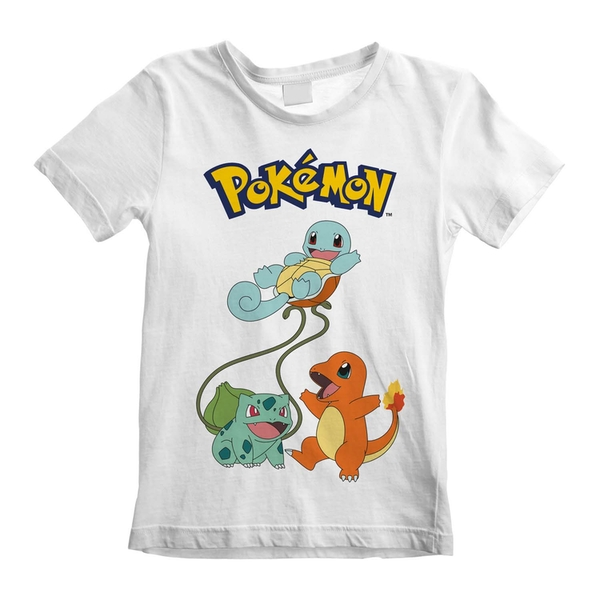 Pokemon - Original Trio Unisex 3-4 Years T-Shirt - White