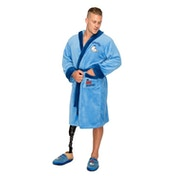 MMLM Mr Lazy Mens Blue Robe with Hood
