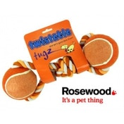 Rosewood Twistable Two Ball Tug Dog Toy