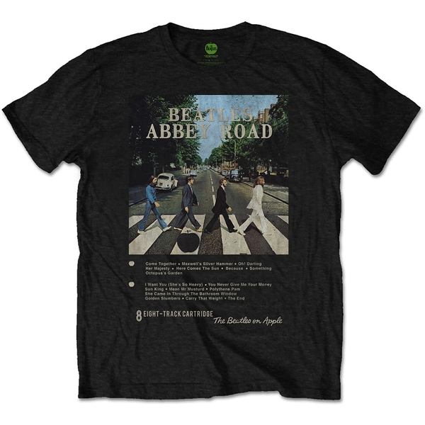 Beatles - The - Abbey Road 8 Track Unisex Small T-Shirt - Black