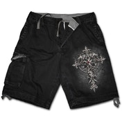 Custodian Men's Small Vintage Cargo Shorts - Black