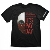 Payday 2 Mens Wolf Mask Medium T-Shirt, Black