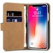 Apple iPhone X Leather Wallet Case - Black (Retail Box) - Image 2