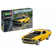1969 Boss 302 Mustang 1:25 Scale Level 4 Revell Model Kit