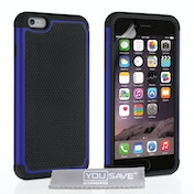 YouSave Accessories iPhone 6 Plus / 6s Plus Grip Combo Case - Blue