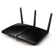 TP-LINK AC750 433Mbps 5GHz 300Mbps 2.4GHz Dual-Band Wireless Gigabit ADSL2  Modem Router Black