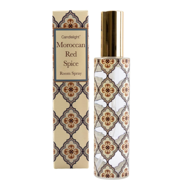 Moroccan Red Spice Room Spray in Gift Box Red Cinnamon Scent