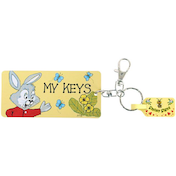 Pack of 6 My Keys Key Rings