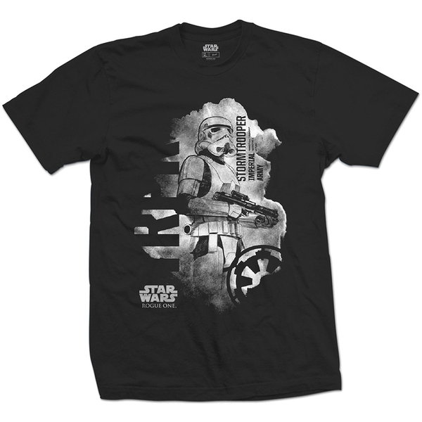 Star Wars - Rogue One Stormtrooper Unisex Large T-Shirt - Black