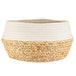 Sass & Belle White Dip Rope & Grass Basket - Image 2