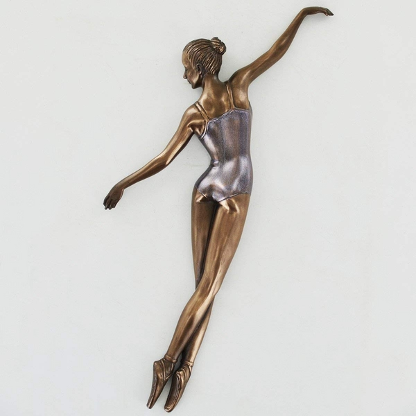 Ballerina Pose 1 Cold Cast Bronze Wall Plaque