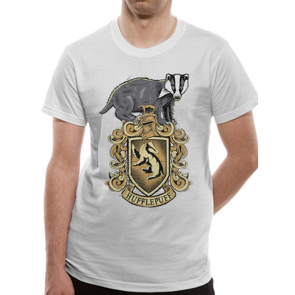 Harry Potter - Hufflepuff Men's Medium T-Shirt - White