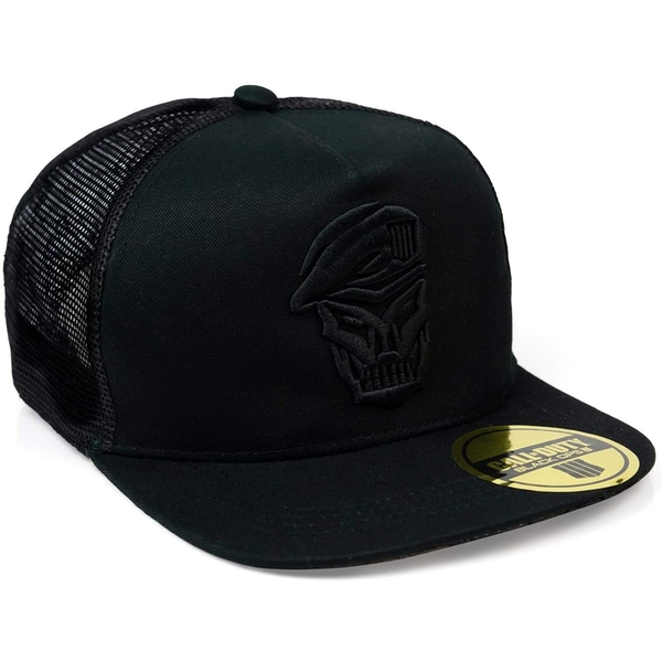 Call of Duty: Black Ops 4 - Skull Logo Emblem Snapback Hat - Black