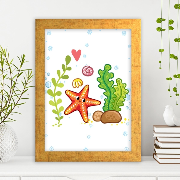 AC4393706834 Multicolor Decorative Framed MDF Painting