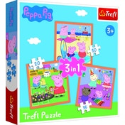 Peppa Pig (3 in 1) Puzzle