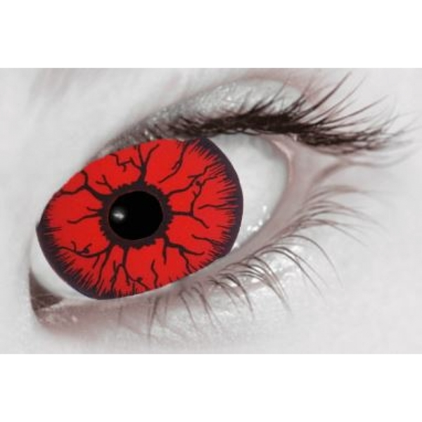 Mini Sclera Red Rage 1 Month Coloured Contact Lenses (MesmerEyez)