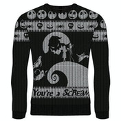 Nightmare Before Christmas - You're A Scream Unisex Medium Knitted Jumper - Multi-Colour