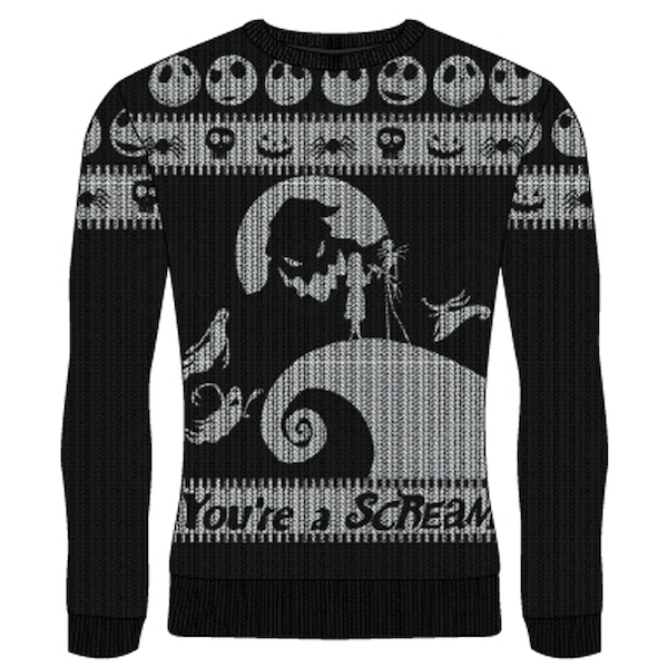 Image of Nightmare Before Christmas - You're A Scream Unisex Medium Knitted Jumper - Multi-Colour