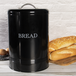 Bread Bin Crock Storage Canister Jar | M&W Black - Image 5