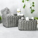 Woven Rope Storage Baskets - Set of 3 M&W Grey - Image 2
