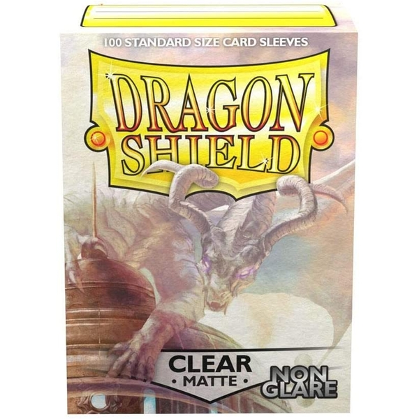 Dragon Shield Clear Matte NonGlare Standard Card Sleeves - 100 Sleeves
