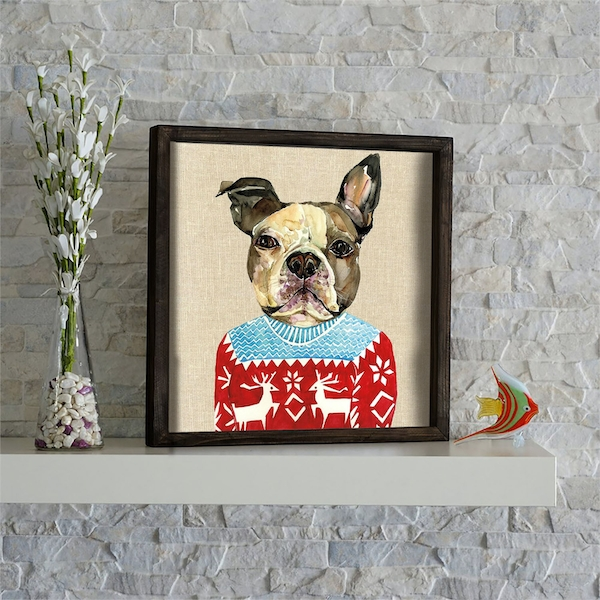 KZM605 Multicolor Decorative Framed MDF Painting