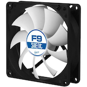 Arctic F9 Silent 9.2cm Case Fan, Black & White, 9 Blades, Fluid Dynamic, 6 Year Warranty