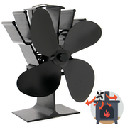 Heat Powered 4 Blade Stove Fan | M&W