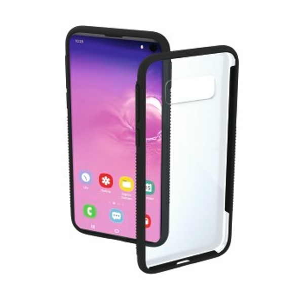Hama Frame Protective Case for Samsung Galaxy S10 Transparent/Black