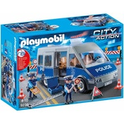 Ex-Display Playmobil City Action Policemen with Van - Flashing Lights and Sound Used - Like New