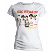 One Direction Individual Shots Ladies White T Shirt: Small