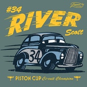 Cars 3 - Legend Of The Track - River Scott Canvas