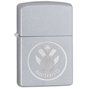 Zippo Ireland Patch Satin Chrome Windproof Lighter
