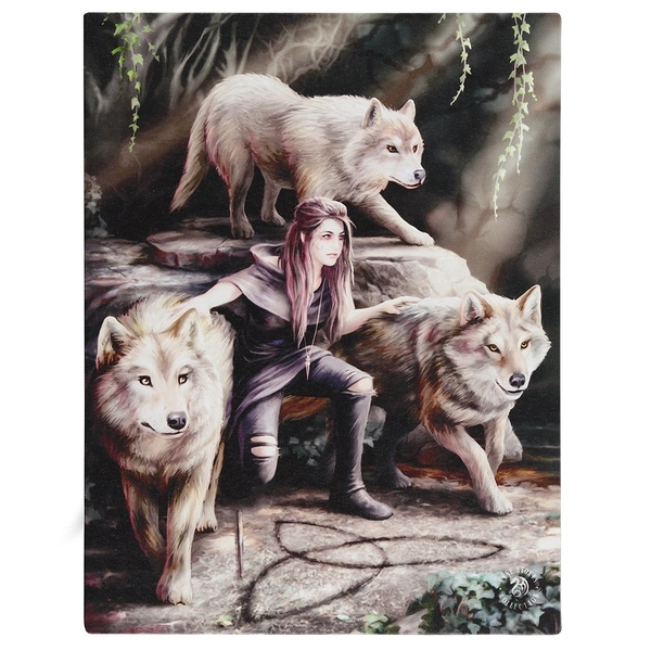 19 x 25cm Power of Three Canvas Plaque By Anne Stokes