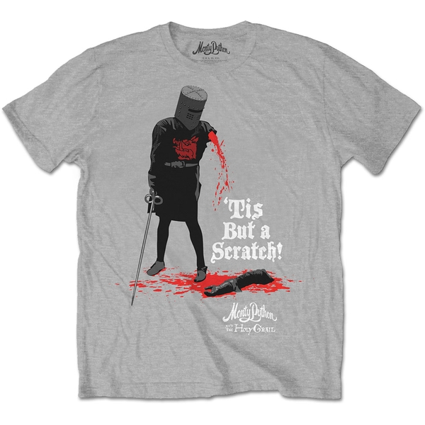 Monty Python - Tis But A Scratch Unisex X-Large T-Shirt - Grey