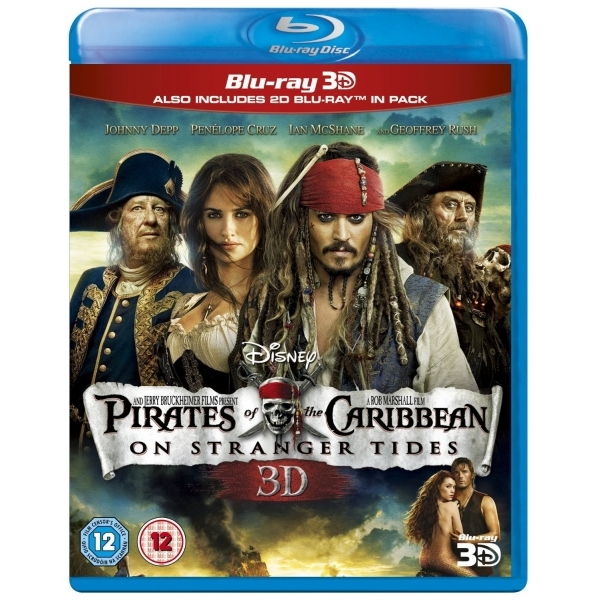 Pirates of the Caribbean On Stranger Tides 3D Blu-ray