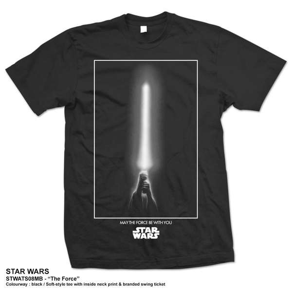 Star Wars - The Force Unisex Medium T-Shirt - Black
