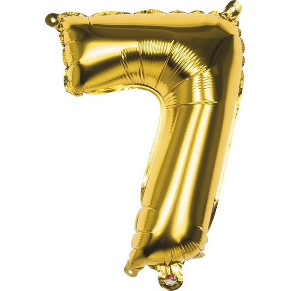 Foiled Balloon Number 7 (Gold)