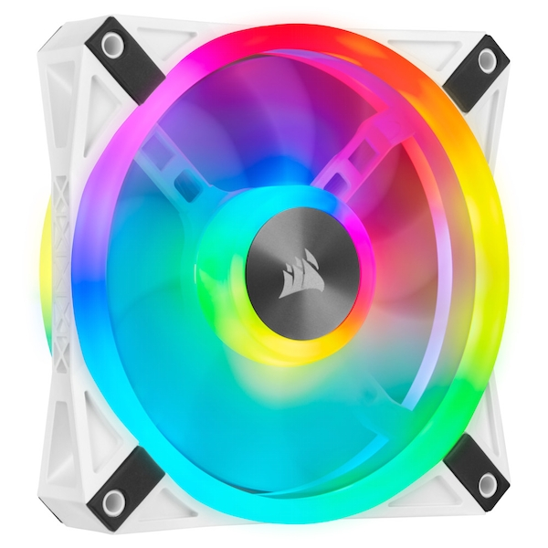 Corsair iCUE QL140 White with Addressable RGB PWM Fan Dual Pack -140mm
