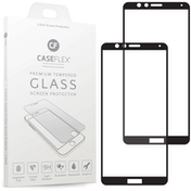 Huawei Honor 7X Tempered Glass Screen Protector with Black Edge - Twin Pack