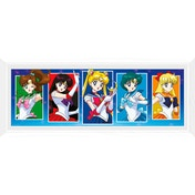 Sailor Moon Characters (White Frame) Framed Collector Print