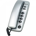 Tel UK 18035S Two Piece Telephone Sorrento with Hearing Aid Compatibility Silver