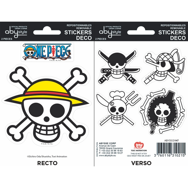 One Piece - Pirates Flag Mini Stickers