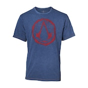 Assassin's Creed - Crest Logo Faux Denim Men's Medium T-Shirt - Blue