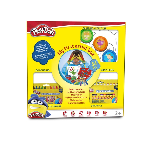 Play-Doh Kid's My First Artist Box with 54 Piece Creative Accessory Set