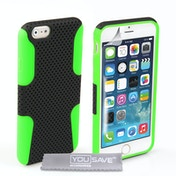YouSave Accessories iPhone 6 / 6s Mesh Combo Case - Green/Black