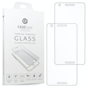 CASEFLEX NOKIA 2.1 TEMPERED GLASS (TWIN PACK) - CLEAR